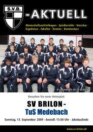 3. Ausgabe 2009/2010 von SVB-aktuell als - SV 20 Brilon