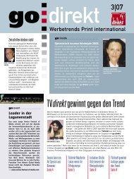 go direkt Ausgabe 3-2007.pdf - WAZ Zeitschriften Marketing