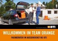 willkommen im team orange - BTI Befestigungstechnik GmbH & Co ...