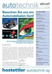 Besuchen Sie uns am Automobilsalon Genf - hostettler autotechnik ag