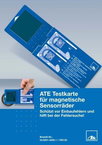ATE Testkarte für magnetische Sensorräder - hostettler autotechnik ag