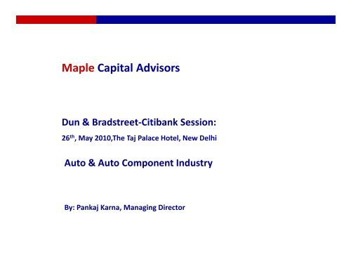 Automotive sector overview - Maple Capital Advisors