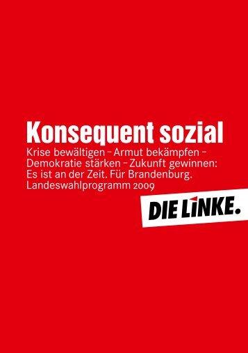 Eintrittserklärung - Die Linke. Brandenburg