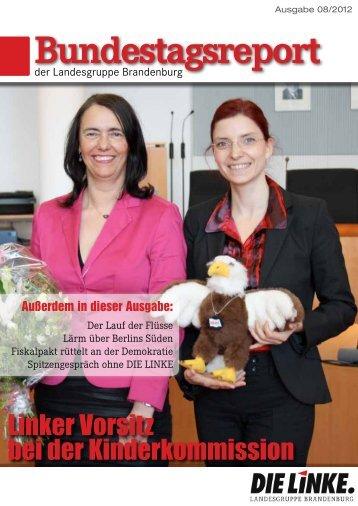 Bundestagsreport 08/2012 - Dagmar Enkelmann