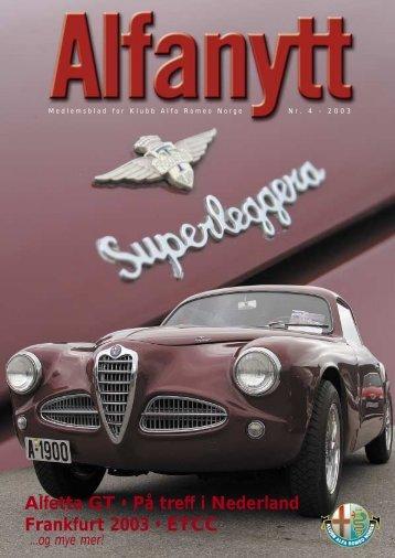 Alfanytt_2003_4 - Klubb Alfa Romeo Norge avd. Rogaland