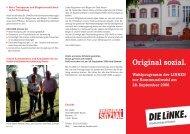 Original sozial. Wahlprogramm der LINKEN zur Kommunalwahl am ...