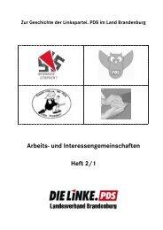 Arbeits- und Interessengemeinschaften - Die Linke. Brandenburg