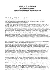 Antwort auf die Wahlprüfsteine der Wirtschafts / weiber - Die Linke ...