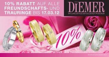 10% RABATT AUF ALLE FREUNDSCHAFTS- UND ... - Diemer