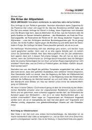 Die Krise der Altparteien - Die Linke. Brandenburg