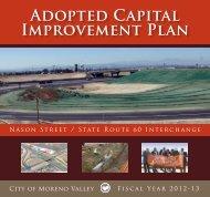2012-2013 Adopted Capital Improvement Plan - Moreno Valley