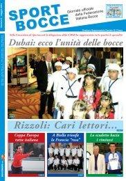 ecco l'unità delle bocce Rizzoli: Cari lettori - Federazione Italiana ...