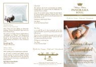 Choose your favourite sleeping pillow - Hotel Panorama Royal