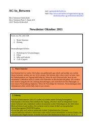 Newsletter Oktober 2011 - Alice Salomon Hochschule Berlin