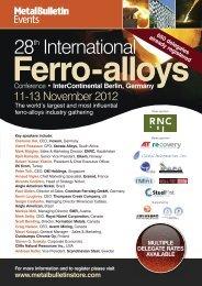 Ferro-alloys - Metal Bulletin Store