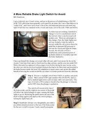A More Reliable Brake Light Switch for Avanti - Studebaker-info.org
