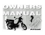 Owner's Manual for Avanti Step-Through Mopeds - Project Moped ...
