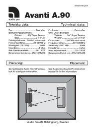 Avanti A.90 - Audio Pro