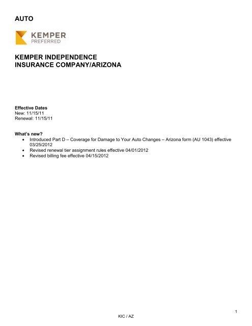 Auto Kemper Independence Insurance Company Kemper Preferred