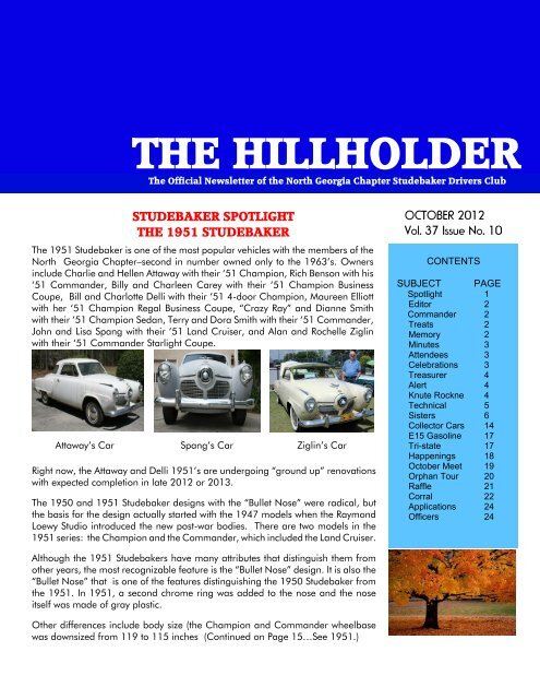 the hillholder - Studebaker Clubs