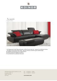 KOINOR - SOFAS: Avanti - Design Lounge by Hinke