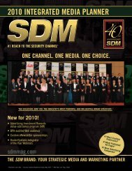 2010 INTEGRATED MEDIA PLANNER - Electronic Security Expo
