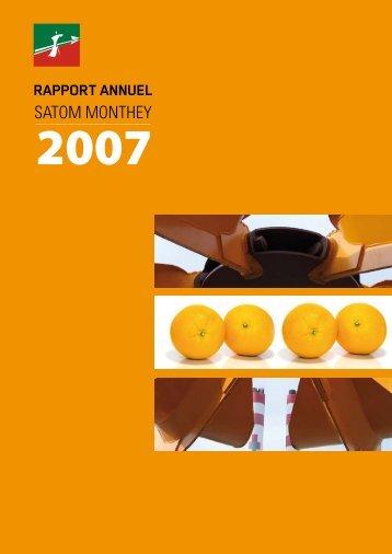 Rapport Annuel 2007 - Satom