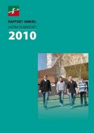 Rapport Annuel 2010 - Satom