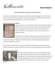 New Products - Masonite