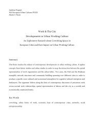 Work & The City Developments in Urban Working ... - serious plans