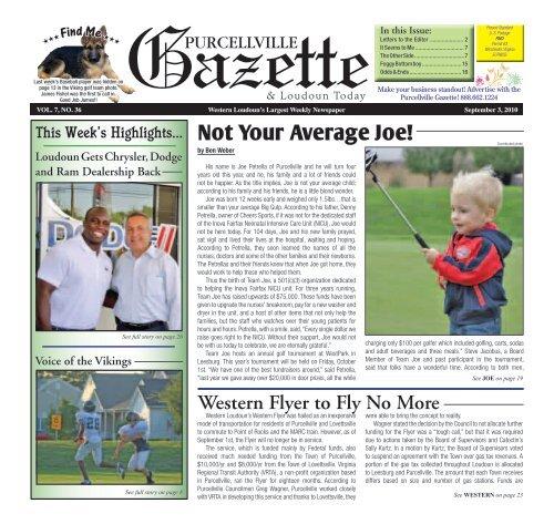 September 3 Purcellville Gazette