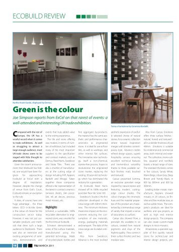 Green is the colour - Kenda Capital