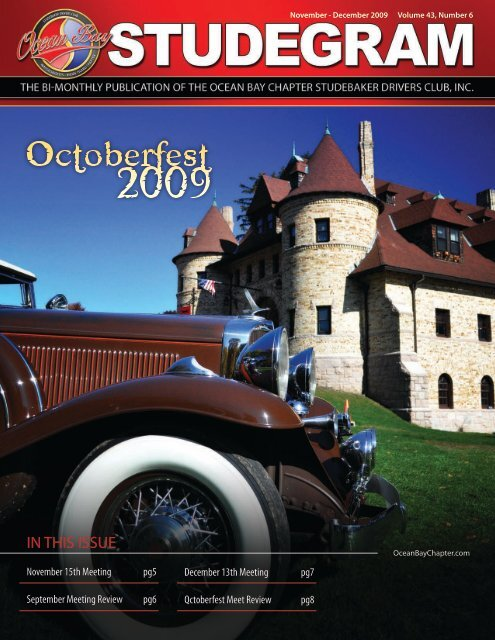 IN THIS ISSUE - Ocean Bay Chapter of the Studebaker Drivers Club