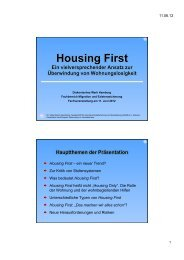 Housing First Ein vielversprechender Ansatz zur Überwindung von ...
