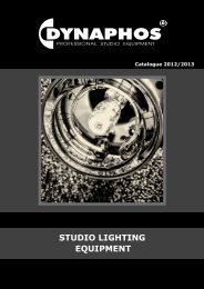 STUDIO LIGHTING EQUIPMENT - Dynaphos