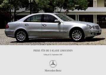 Preisliste - Mercedes-Benz Deutschland