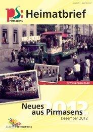 Heimatbrief - Stadt Pirmasens