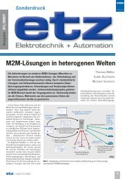M2M-Lösungen in heterogenen Welten - AVANTGARDE Business ...
