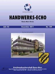 Handwerks-Echo Nr. 149 - Kreishandwerkerschaft Rems-Murr