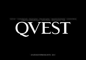 anzeigenpreisliste 2011 - Qvest