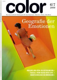 Das österreichische Fachmagazin für den Innenraum. Material - Color