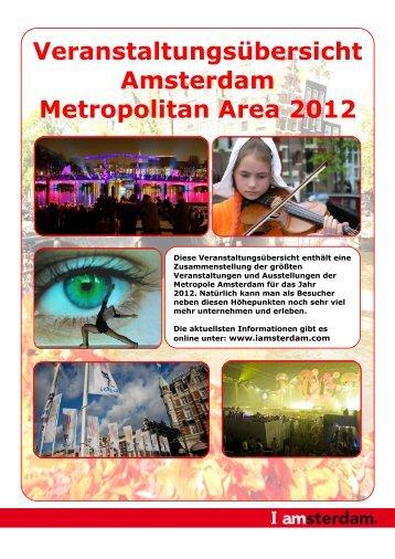 Veranstaltungsübersicht Amsterdam Metropolitan ... - I amsterdam