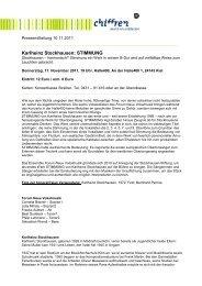 Karlheinz Stockhausen: STIMMUNG - Chiffren