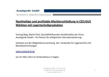 3. Ermittlung attraktiver Märkte CEE - Avantgarde GmbH