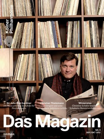 Das Magazin 09/10 2012 - Kölner Philharmonie
