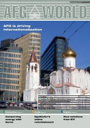 AFG WORLD Edition 16 – December 2012 - bei der AFG