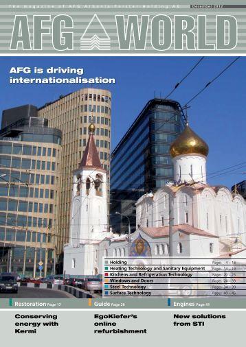 AFG WORLD Edition 16 – December 2012 - bei der AFG