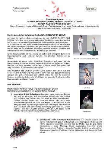 11-01-17 Pressetext Event und Label - Laverana