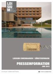 LOISIUM Pressemappe (pdf) - Allegria