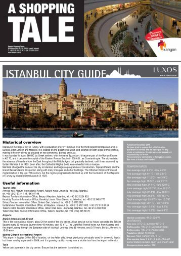 ISTANBUL CITY GUIDE - LUXOS